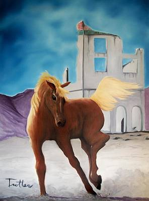Painting - Rhyolite Pony by Patrick Trotter