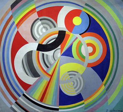 Lyrical Abstractions Painting - Rhythm 1, Decoration For The Salon Des Tuileries by Robert Delaunay