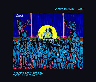 Rhythm Blue Art Print by Albert Almondia
