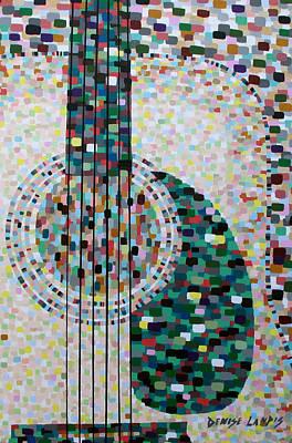 Rhythm Guitar Original by Denise Landis