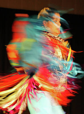 Pow Wow Photograph - Rhythm Of Dance by Joy Tudor