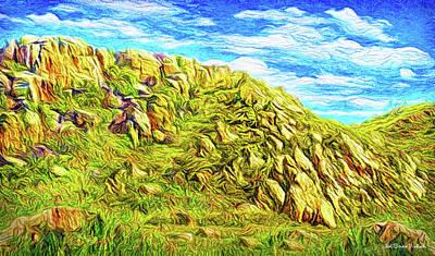 Digital Art - Rhythm Of Primordial Stones by Joel Bruce Wallach