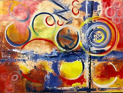 Painting - Rhythms Of Africa 1 by Mary Rimmell