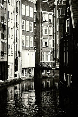Photograph - Rhythms Of Amsterdam. Black And White by Jenny Rainbow