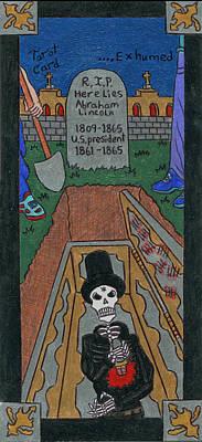 Headstones Mixed Media - R.i. P. Exhumed by Ian Suazo-- The Lizard