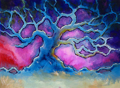 Abstract Landscapes Painting - Ria by Jennifer McDuffie