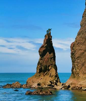 Mick Jagger - Rialto Beach Sea Stack by Dan Sproul