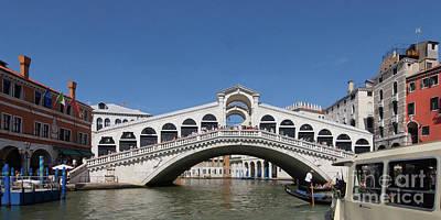 Photograph - Rialto Bridge Venice 1 by Rudi Prott