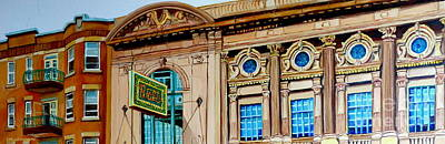 Painting - Rialto Theatre Montreal Architecture Historic Cinema Painting Carole Spandau by Carole Spandau