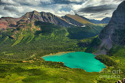 Photograph - Rainbow Mountains Over Grinnell Lake by Adam Jewell