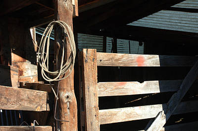 Old Barns Photograph - Riata by Jerry McElroy