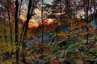 Photograph - Rib Mountain State Park Fall Sunset by Dale Kauzlaric