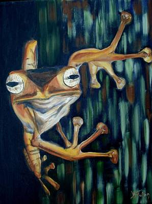 Art Print featuring the painting Ribbit by Donna Tuten