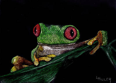 Frogs Mixed Media - Ribbit II by Linda Hiller