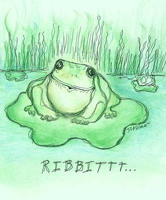 Drawing - Ribbittt.... by Denise Fulmer