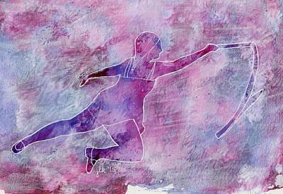 Painting - Ribbon Ballet Dancer 2 by Lori Kingston