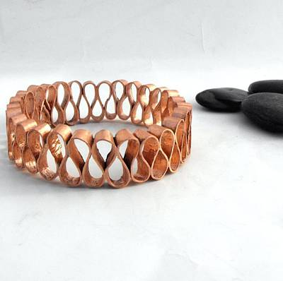 Copper Bracelet Jewelry - Ribbon Candy Bangle by Aimee Koester