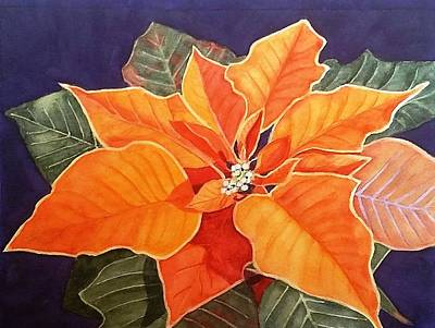 Painting - Ribbon Candy Poinsettia by Deane Locke