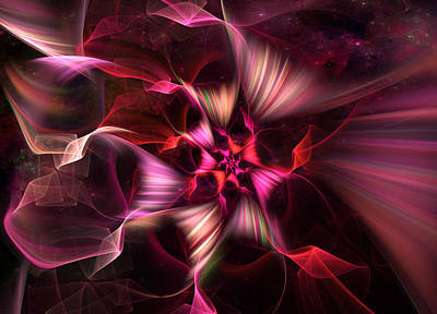 Digital Art - Ribbon Candy Rose by Michele Loftus