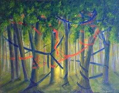 Ribbon Dance Art Print