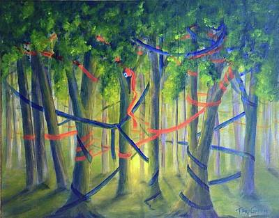 Painting - Ribbon Dance by T Fry-Green