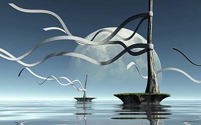 Digital Art - Ribbon Island by Cynthia Decker