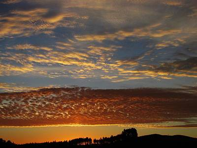 Photograph - Ribbon Lace Rippled Sky by Dianne  Connolly