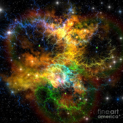 Ribbon Nebula Art Print by Corey Ford