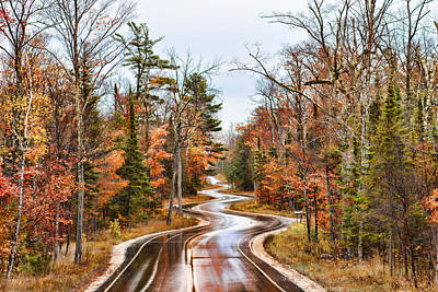 Sunday Drive Photograph - Ribbon Road by Bonnie Phillips