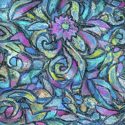 Painting - Ribbon Rose Dark by Jean Batzell Fitzgerald