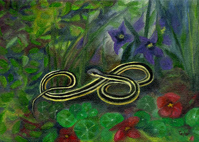 Painting - Ribbon Snake by FT McKinstry