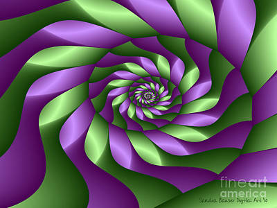 Digital Art - Ribbon Spiral by Sandra Bauser Digital Art