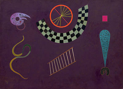 Geometric Painting - Ribbon With Squares by Wassily Kandinsky