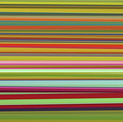 Colorful Abstract Mixed Media - Ribbons by Dan Sproul
