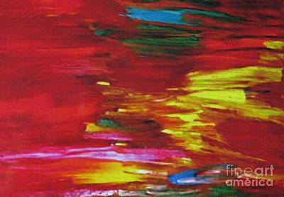 Gloss Varnish Painting - Ribbons Of Hope by Shelly Wiseberg