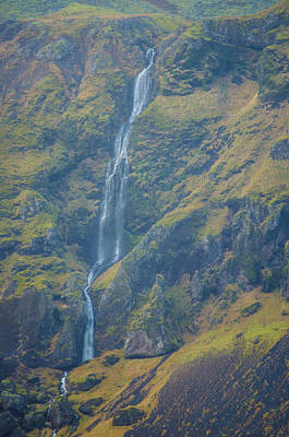 Photograph - Ribbony Waterfall Western Iceland by Deborah Smolinske