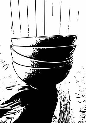 Mixed Media - Rice Bowls by Bill Owen