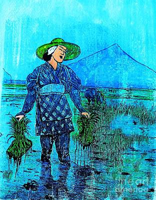 Painting - Rice Field Blues by Roberto Prusso