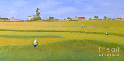 Rice Field In Northern Vietnam Art Print by Thi Nguyen
