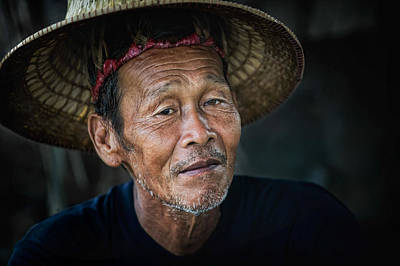 Lee Craker Royalty-Free and Rights-Managed Images - Rice Field Worker by Lee Craker