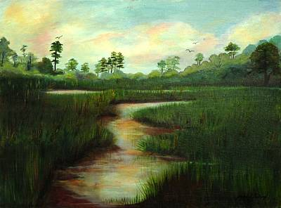 Painting - Rice Fields Of Brookgreen Gardens by Shirley Lawing