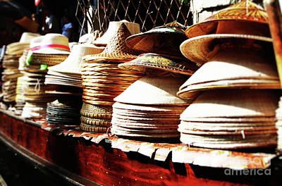 Art Print featuring the photograph Rice Hats by Thanh Tran
