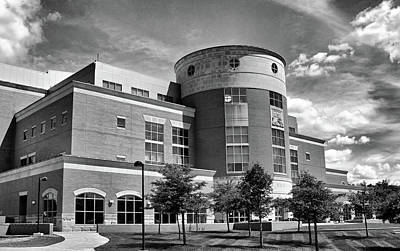 Evansville Indiana Photograph - Rice Library B W by Sandy Keeton