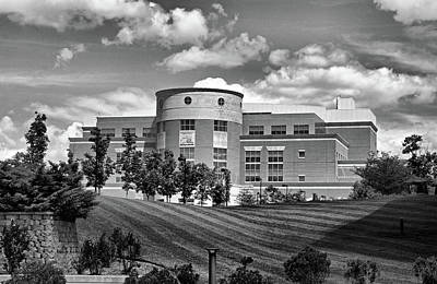 Southern Indiana Photograph - Rice Library II B W by Sandy Keeton