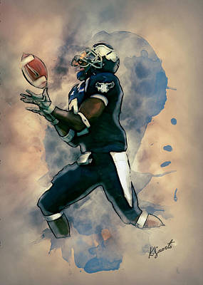 Digital Art - Rice Owls Football by Kai Saarto