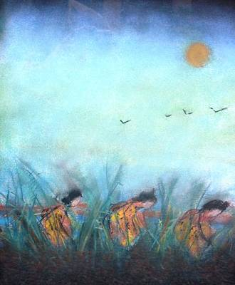 Rice Paddy Art Print by Thomas Armstrong