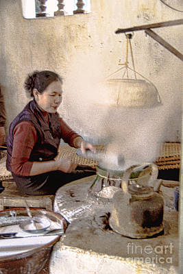 Photograph - Rice Paper Maker by Rick Bragan
