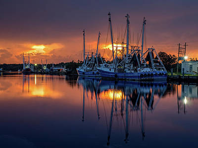 Photograph - Rich And Vibrant Bayou Sunset by Brad Boland