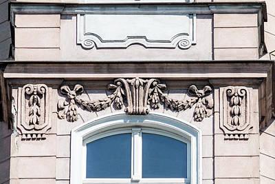 Photograph - Rich Decorative Window Trim C In Poland by Jacek Wojnarowski