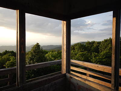 Wall Art - Photograph - Rich Fire Tower by Cheryl Hadrych
